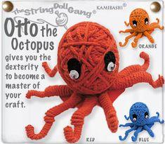 Adorable string octopus :)   Kamibashi.com