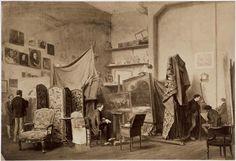 Atelier d'artiste de Paul Delaroche Bingham Robert Jefferson (vers 1800-1870)Paris, musée d'Orsay Réunion des Musées Nationaux-Grand Palais -
