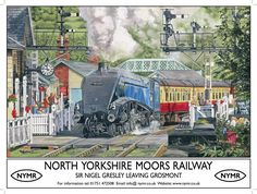 Posters Uk, Train Posters, Railway Posters, British Travel, Train Art, North Yorkshire, Vintage Travel Posters, Model Trains, Vintage Advertisements