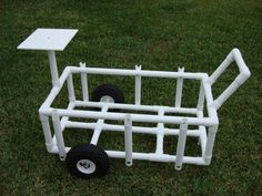 Project Ideas & PVC Pipe Projects PVC Fishing Caddy: Build an easy-to-use cart for fishing, including a cleaning station. - PVC Fishing Caddy: Build an easy-to-use cart for fishing, including a cleaning station. Beach Fishing Cart, Beach Cart, Best Fishing, Fishing Tips, Fishing Quotes, Fly Fishing, Fishing Stuff, Fishing Crafts, Going Fishing