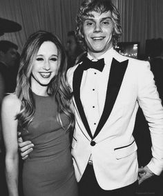 Taissa Farmiga and Evan Peters should go out. They look so cute together