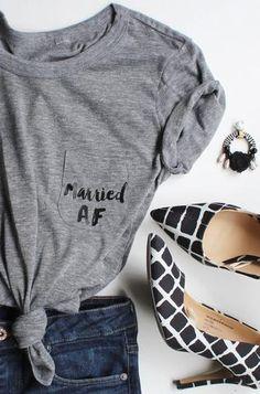 Married AF T-shirt / Pocket Tee