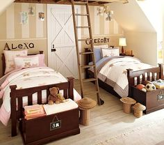Love the beds, will transition to 2 boys instead of boy/girl in the future.