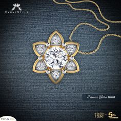 A radiant #solitaire #pendant set in mesmerizing #gold made for the cocktail hour. #shopping #jewellery #ecommerce #india #fashion #lifestyle #style