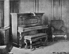 Piano In The First Class Entrance In Boat Deck Beside The Grand Staircase