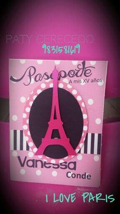 Invitaciones París torre eiffel