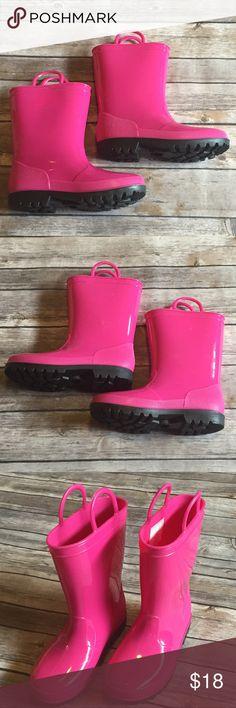 Intrigue Pink Rain Boots, Size 12, EUC Intrigue Pink Rain Boots, Size 12, EUC Shoes Rain & Snow Boots