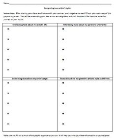 compare and contrast graphic organizer for writing text  writingfix an original compare and contrast writing lesson