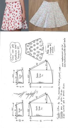 Sewing Skirts Saia evasê com pala anatômica Diy Clothes Patterns, Baby Dress Patterns, Skirt Patterns Sewing, Sewing Patterns Free, Sewing Clothes, Free Pattern, Costura Fashion, Fashion Sewing, Baby Sewing