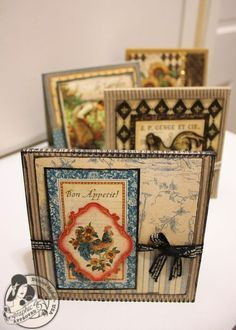 Amazing French Country cards by @Denise Hahn! Click to see the sketches of how to make these yourself!