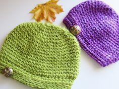 Crochet Dreamz: Faux Knit Beanie Crochet Pattern, 0-3 Months to Woman