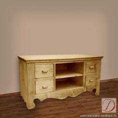 TV-Board GRAZ natur B120cm Pinie Massivholz - Gradlinig und stilsicher bereichert dieses Möbelstück Ihre Wohnlandschaft! um ein ganz besonderes Schmuckstück. Lassen Sie den Landhausstil bei Sich einziehen!