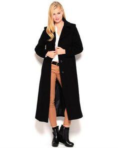 Anne Klein Wool & Cashmere Blend Walker Coat
