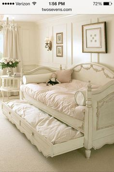 Love this bed!  would make a nice bed in a spare room!