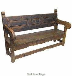 Rustic Old Door Mexican Colonial Bench $759  Free Shipping