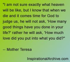 Mother Teresa quote on love