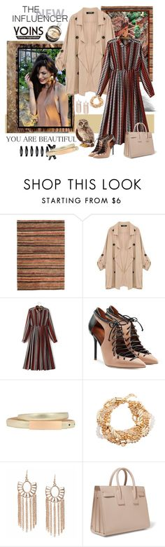 """""""Yoins Khaki Coat"""" by carola-corana ❤ liked on Polyvore featuring Malone Souliers, Chanel, Yves Saint Laurent, Jay Strongwater, women's clothing, women, female, woman, misses and juniors"""