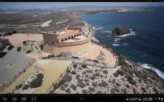 Cuestionable restauración del castillo de Terreros.Almería Spain.
