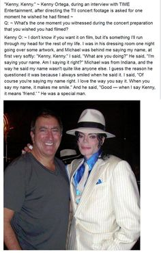 """""""Kenny, Kenny."""" ~ Kenny Ortega, during an interview with TIME. http://t.co/pEXLWH7Lno Embedded image permalink"""