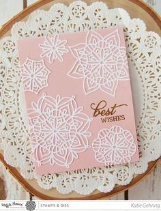 stamping lightly: Lots of Lacy Flowers {Waffle Flower Crafts}