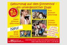 """Anzeige im der Elternzeitschrift Luftballon """"Kindergeburtstag"""""""