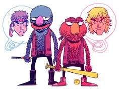 Dan Hipp killin' it again. This time, it's Sesame Street and Street Fighter. Clever bastard...