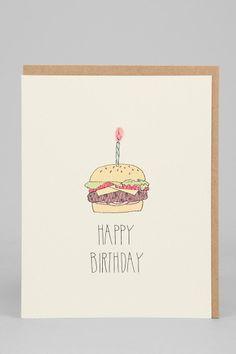 Hartland Brooklyn Hamburger Birthday Card