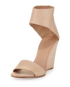 VINCE Kelan Anklecuff Wedge Sandal