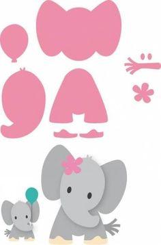 Risultati immagini per elefante marianne design Quilt Baby, Elephant Template, Elephant Stencil, Elephant Applique, Elephant Pattern, Felt Crafts, Paper Crafts, Easy Crafts, Moldes Para Baby Shower