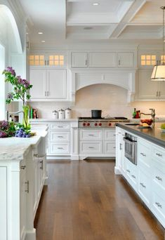 White Cabinets, Counters, and Stove