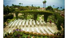 Thursday Club, ocean view wedding ceremony. The garden's romantic and peaceful setting will seat up to 100 guests.