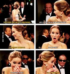 Jennifer Lawrence and Jack Nicholson being awesome