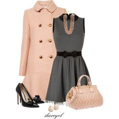 """Pink And Black For Fall"" by sherryvl on Polyvore"