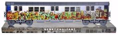 """Henry Chalfant's Graffiti Archives are a work of visual anthropology 10"""" MINI collector edition train.. Kase2 aka """"King of style"""" King Kase2 classic NYC subway Graffiti art early 1980's Kase is respected as a  KING OF STYLE.. a NYC original.. kase painted in the early 80's and was one of the most respected and feared artist painting trains .. as side note : Kase only had one arm , with 1 ARM he painted these works of art .. Growing up in the ghettos of NYC , his art works are a classic"""