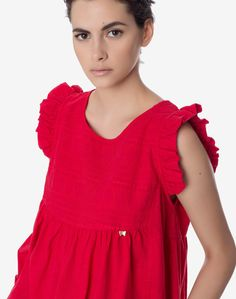 Τοπ με κέντημα | Regalinas Dress Up, Ruffle Blouse, Tunic Tops, Women, Fashion, Moda, Costume, Fashion Styles, Fashion Illustrations
