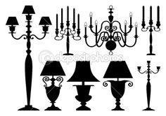 Contenidos en la misma serie:    Set of antique street light lamps