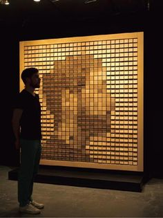 Daniel Rozin Interactive Art wooden mirror