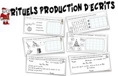Rituels production d'écrits : Noël - Bout de gomme Christmas Treats For Gifts, Learn French, Kids Learning, Xmas, Bullet Journal, Classroom, Teacher, Student, Writing