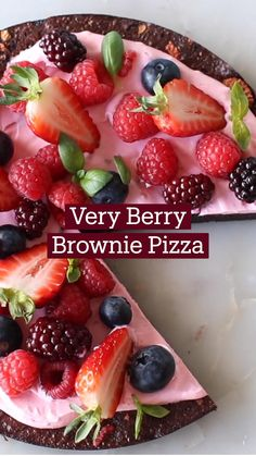 Easy Desserts, Dessert Recipes, Delicious Desserts, Yummy Food, Dessert Bars, Fun Baking Recipes, Sweet Recipes, Cooking Recipes, Brownie Pizza