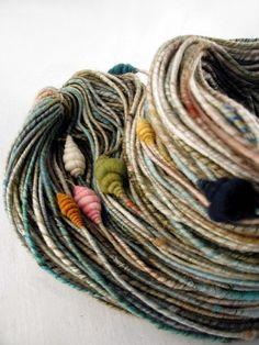 Gorgeous skein of hand spun yarn!!!!!  Swoon!!