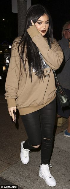 All in a day's work: Kendall Jenner headed to Menchies Frozen Yogurt with sister Kylie on ...