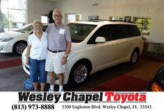 https://flic.kr/p/NL6Fp5 | Happy Anniversary to Dick And Nancy on your #Toyota #Sienna from Andy Ghelfi at Wesley Chapel Toyota! | deliverymaxx.com/DealerReviews.aspx?DealerCode=NHPF