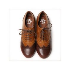 Rae Jazz Oxford Shoes In Tan (43 CAD) ❤ liked on Polyvore featuring shoes, oxfords, flats, sapatos, women, oxford shoes, oxford flats, flat shoes, lace up shoes and perforated oxfords