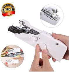 Every Crafter and Seamstress Needs the Portable Handheld Cordless Mini Sewing Machine Sewing Hacks, Sewing Projects, Sewing Tips, Crochet Projects, When You Are Happy, Things To Buy, Stuff To Buy, Cool Gadgets, Creative Gifts