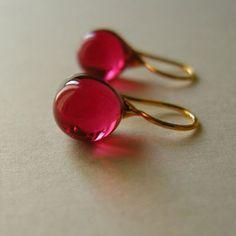 Teardrop - mini size - fuchsia pink