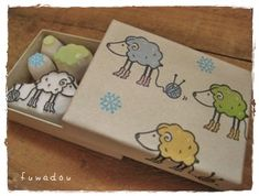 毛糸と羊 sheep and wool stamp!! So cute!!!