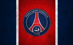 Télécharger fonds d'écran Paris Saint-Germain, logo, PSG, art, Liga 1, grunge, soccer, Ligue 1, FC PSG