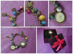 """Handmade bronze bracelet """"So many books so little time"""""""