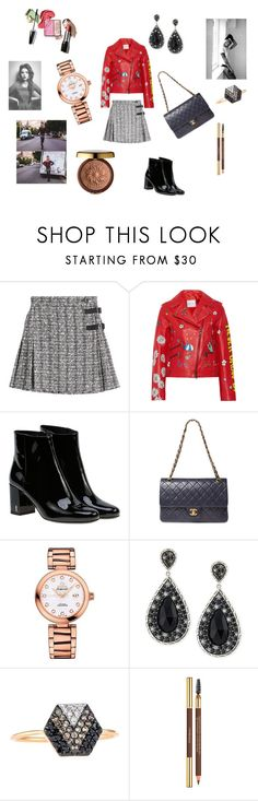 """""""Kilt"""" by maria-chamourlidou ❤ liked on Polyvore featuring Alexander McQueen, Mira Mikati, Yves Saint Laurent, Chanel, OMEGA, John Hardy, Kismet by Milka and Physicians Formula"""