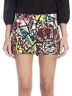 Emilio Pucci Mosaic Print Shorts - Darker Mosaic - Size